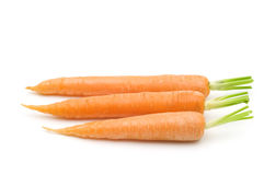Fresh three carrots Royalty Free Stock Images