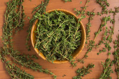 Fresh Thyme into a bowl Stock Image