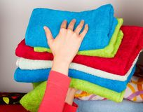 Fresh and Tidy Towels Stock Image
