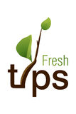 Fresh Tips Logo. Logo Design for fresh idea and how to be creative Royalty Free Stock Photo