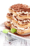 Fresh tiramisu Stock Photo