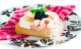 Fresh toast with caviar Stock Image