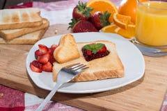 Fresh Toast with Jam (breakfast) Stock Photos