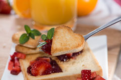 Fresh Toast with Jam (breakfast) Stock Photography