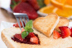 Fresh Toast with Jam (breakfast) Royalty Free Stock Photo