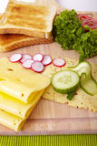 Fresh toast and vegetable Stock Photo