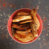 Fresh toasted bread overhead Royalty Free Stock Image