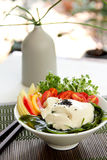 Fresh tofu salad [ Healthy salad ] Royalty Free Stock Photo