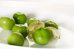 Fresh tomatillos. Shot of fresh tomatillos isolated on white Royalty Free Stock Photo
