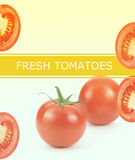Fresh tomatioes poster Royalty Free Stock Photo