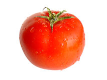 Fresh tomato. Isolated on white (clipping path included Royalty Free Stock Images