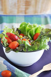 Fresh tomato and apple in green salad Stock Photo