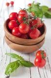 Fresh tomato and basil Royalty Free Stock Photo
