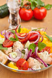Fresh tomato and bread salad Royalty Free Stock Images