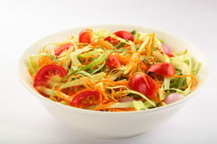 Fresh  tomato,cabbage ,green  vegetable salad Stock Images