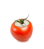Fresh tomato can isolated Stock Photo