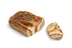 Fresh tomato Caper bread Stock Photo