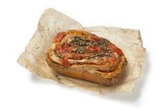 Fresh tomato Caper bread Stock Photography