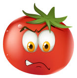 Fresh tomato with face Royalty Free Stock Photo
