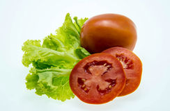 Fresh tomato and green salad Royalty Free Stock Image
