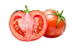 Fresh Tomato & Half Stock Image