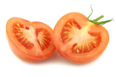 Fresh tomato halves Royalty Free Stock Photography