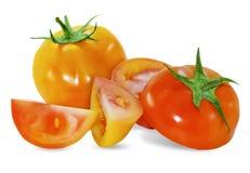 Fresh Tomato isolated on white stock images