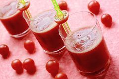 Fresh tomato juice Stock Photography