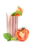 Fresh tomato juice with basil Royalty Free Stock Photos