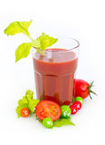 Fresh tomato juice in the glass Royalty Free Stock Images