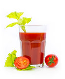 Fresh tomato juice in the glass Royalty Free Stock Photo