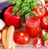 Fresh tomato juice. Stock Photos