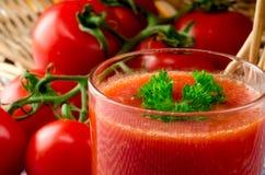 Fresh tomato juice. With herbs Royalty Free Stock Photo