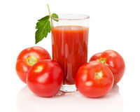 Fresh tomato juice isolated on white background Stock Photography