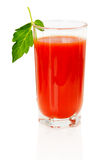 Fresh tomato juice isolated on white background Royalty Free Stock Photography