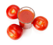 Fresh tomato juice isolated on white background Stock Images