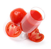 Fresh tomato juice isolated on white Stock Images