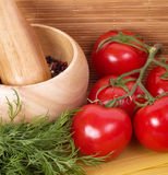 Fresh Tomato Juice and sauce Stock Images