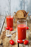 Fresh tomato juice Stock Images
