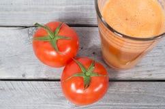 Fresh tomato juice Stock Image