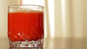 Fresh tomato juices. stock video