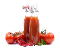 Fresh tomato ketchup Royalty Free Stock Photos