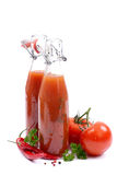 Fresh tomato ketchup Stock Photo
