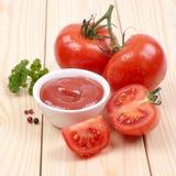 Fresh tomato ketchup Royalty Free Stock Photography