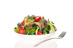 Fresh tomato and lettuce salad Stock Photo
