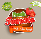 Fresh Tomato logo. Royalty Free Stock Photography