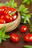 Fresh tomato and mint Royalty Free Stock Images
