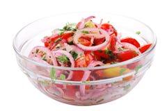 Fresh tomato and onion salad Stock Photos