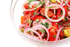 Fresh tomato and onion salad Royalty Free Stock Photo