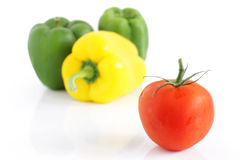 Fresh tomato and  peppers Royalty Free Stock Images